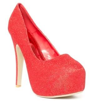 zapatos de fiesta con plataformas rojos