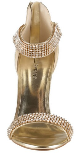 zapatos de moda para fiesta dorados