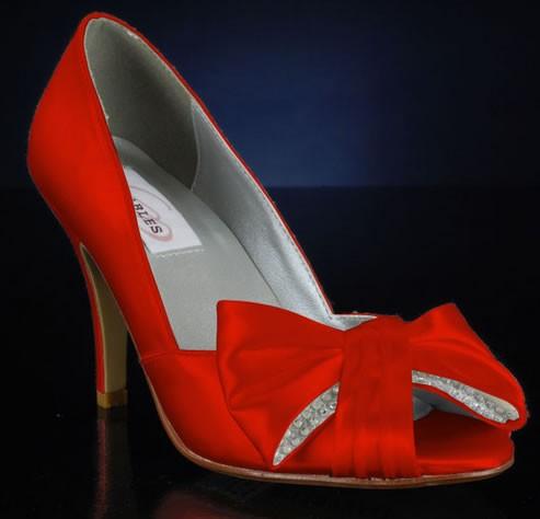 zapatos para novias a la moda rojos