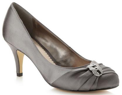zapatos de fiesta plateado oscuro