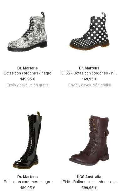 Botas a la moda con cordones