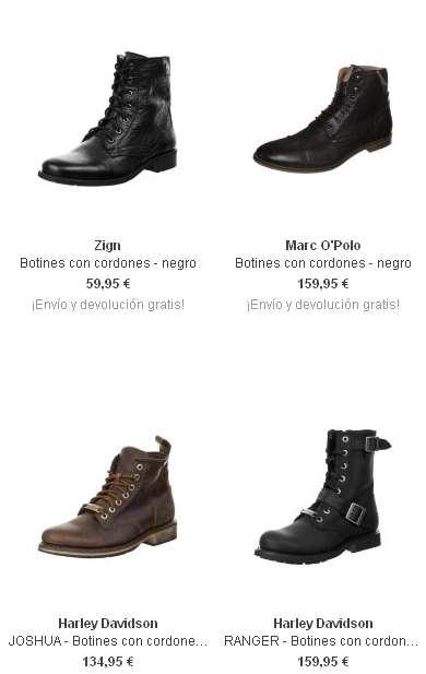 botas con cordones para hombres