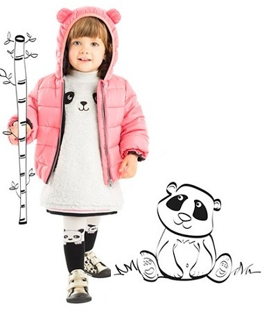niña con moda panda Prenatal