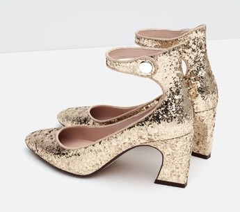 Zara- zapato en glitter