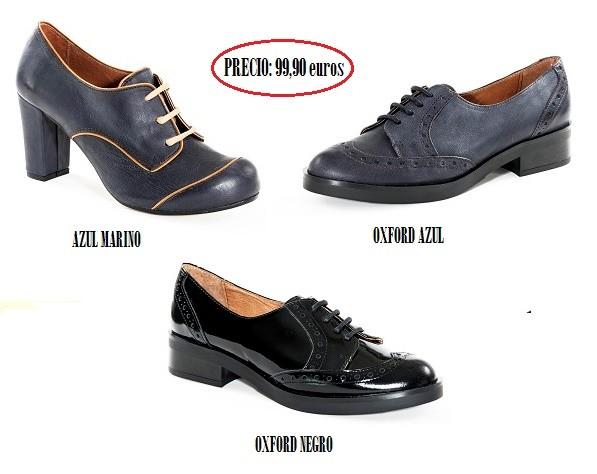 Zapatos negros y azul marino de Trakabarraka
