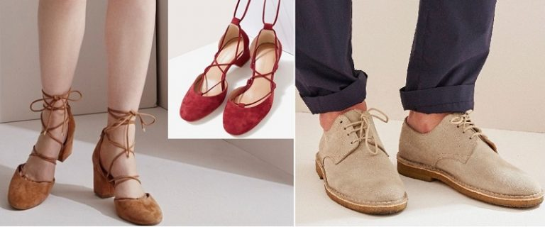 Zapatos de piel de ante
