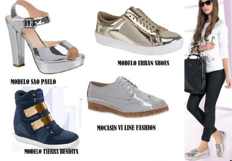Modelos metalizados de Price Shoes