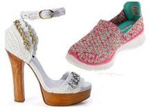 Zapatos tejidos para dama