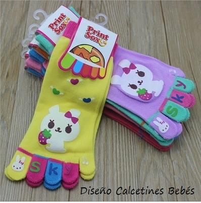 Calcetines con dedos bebés