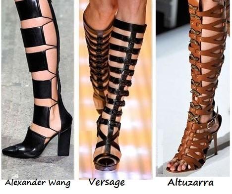 Sandalias gladiadoras de diseñadores famosos