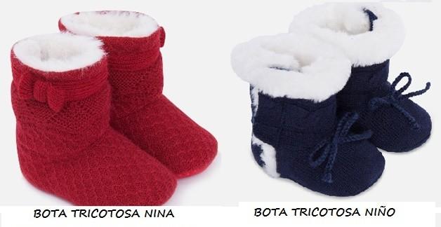Botas tejidas para bebés