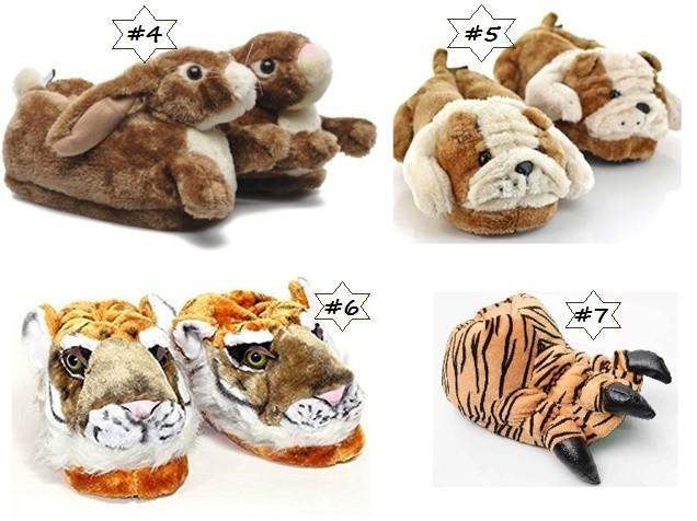 Pantuflas para niños con detalles de animales