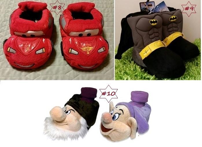 Pantuflas con fantasías infantiles