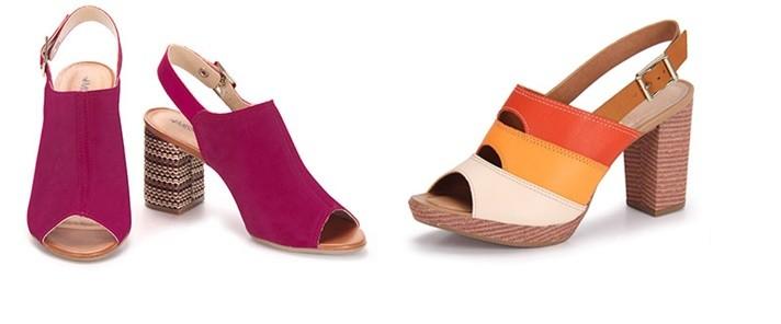 Sandalias con colores tropicales
