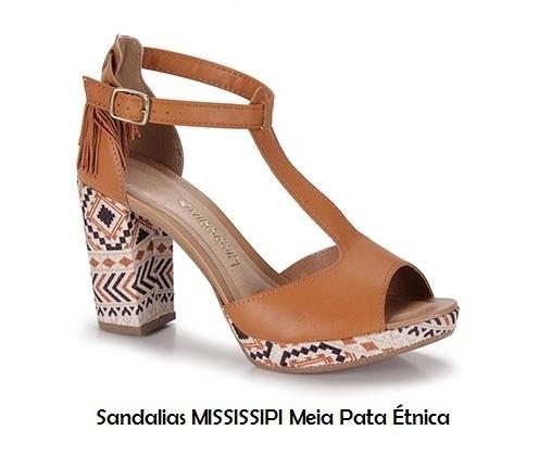 Sandalia MISSISSIPI con estilo étnico