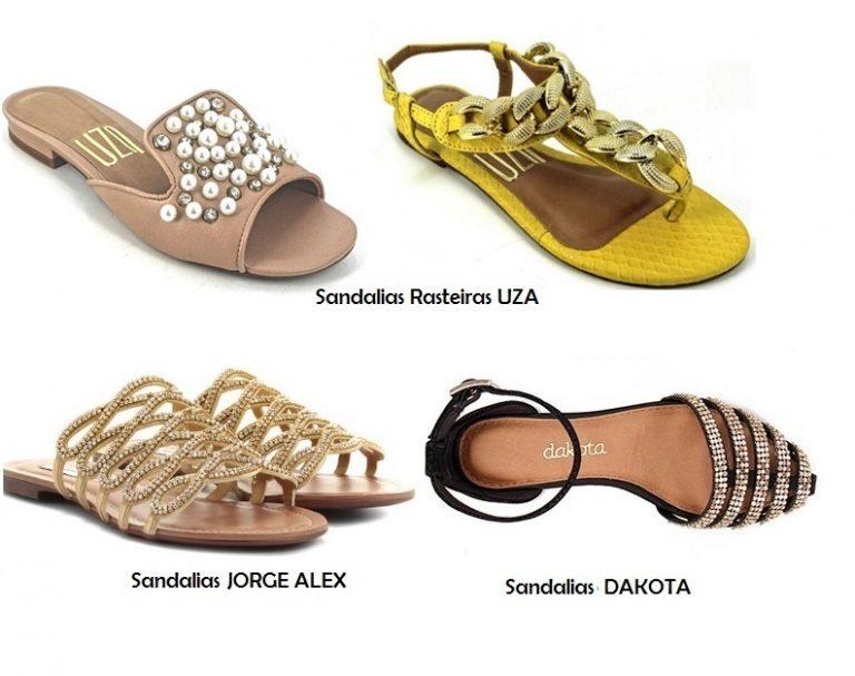 Sandalias adornadas con pedrería