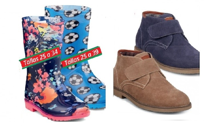 Bota de agua y bota casual infantil