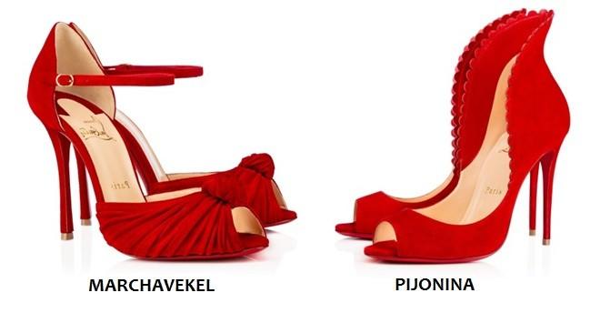 Zapatos rojos en terciopelo