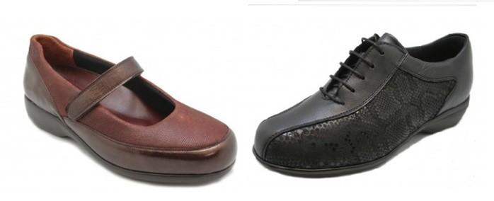 Zapatos para la mujer diabética