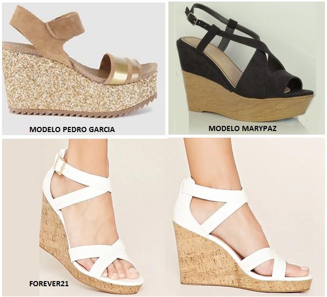 Zapatos de cuña y plataforma