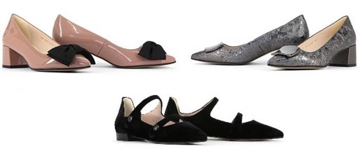 Zapatos tacones bajos