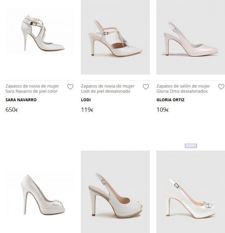 zapatos novia el corte ingles